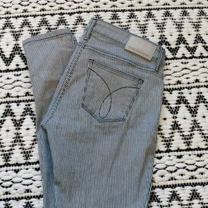 Calvin Klein jeans Stripped white and blue